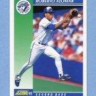 1992 Score Baseball #015 Roberto Alomar - Toronto Blue Jays