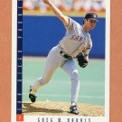 1993 Score Baseball #599 Greg W. Harris - San Diego Padres