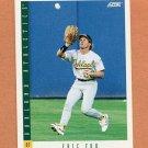 1993 Score Baseball #352 Eric Fox - Oakland Athletics
