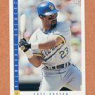 1993 Score Baseball #160 Greg Vaughn - Milwaukee Brewers