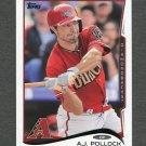 2014 Topps Mini Baseball #648 A.J. Pollock - Arizona Diamondbacks