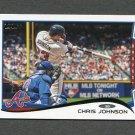 2014 Topps Mini Baseball #619 Chris Johnson - Atlanta Braves