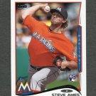 2014 Topps Mini Baseball #577 Steve Ames RC - Miami Marlins