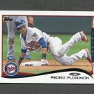 2014 Topps Mini Baseball #568 Pedro Florimon - Minnesota Twins