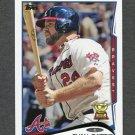 2014 Topps Mini Baseball #464 Evan Gattis - Atlanta Braves
