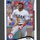 2014 Topps Mini Baseball #324 Elvis Andrus - Texas Rangers