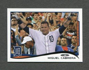 2014 Topps Mini Baseball #250 Miguel Cabrera - Detroit Tigers