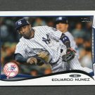 2014 Topps Mini Baseball #246 Eduardo Nunez - New York Yankees