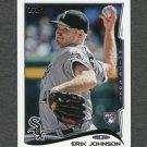 2014 Topps Mini Baseball #178 Erik Johnson RC - Chicago White Sox