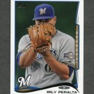 2014 Topps Mini Baseball #096 Wily Peralta - Milwaukee Brewers