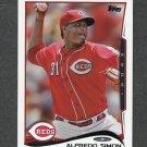 2014 Topps Mini Baseball #021 Alfredo Simon - Cincinnati Reds