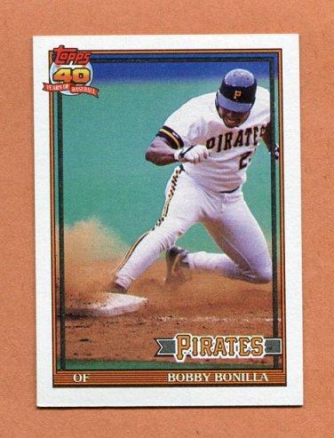 1991 Topps Baseball #750 Bobby Bonilla - Pittsburgh Pirates