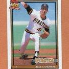 1991 Topps Baseball #595 Bill Landrum - Pittsburgh Pirates