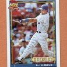 1991 Topps Baseball #592 B.J. Surhoff - Milwaukee Brewers