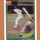 1991 Topps Baseball #580 Dave Stewart - Oakland Athletics