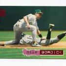 1994 Stadium Club Baseball #227 Mike Bordick - Oakland Athletics