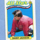 1989 Topps Baseball #395 Danny Jackson AS - Cincinnati Reds