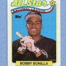 1989 Topps Baseball #388 Bobby Bonilla AS - Pittsburgh Pirates ExMt