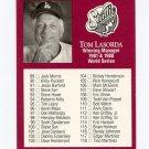 1991 Studio Baseball #262 Tom Lasorda MG CL - Los Angeles Dodgers Vg