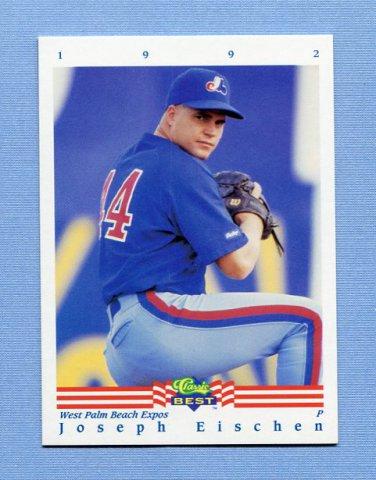 1992 Classic/Best Baseball #303 Joseph Eischen - West Palm Beach Expos (Expos)