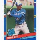 1991 Donruss Baseball #032 Derek Bell - Toronto Blue Jays NM-M