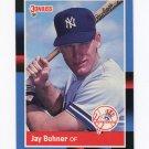 1988 Donruss Baseball #545 Jay Buhner RC - New York Yankees