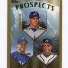 1999 Topps Baseball #207 Peter Bergeron RC / Jeremy Giambi / George Lombard