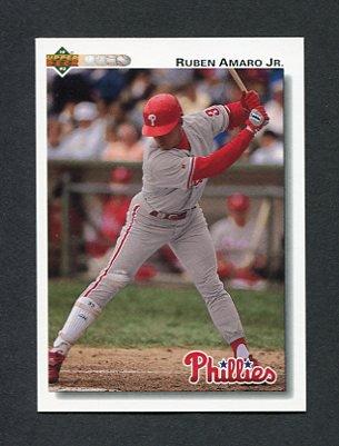1992 Upper Deck Baseball #752 Ruben Amaro - Philadelphia Phillies