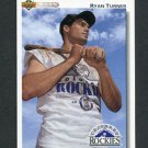 1992 Upper Deck Baseball #710 Ryan Turner RC - Colorado Rockies