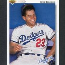 1992 Upper Deck Baseball #534 Eric Karros - Los Angeles Dodgers