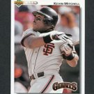 1992 Upper Deck Baseball #266 Kevin Mitchell - San Francisco Giants