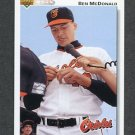 1992 Upper Deck Baseball #163 Ben McDonald - Baltimore Orioles