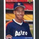 1992 Upper Deck Baseball #023 Brian Williams RC - Houston Astros