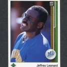 1989 Upper Deck Baseball #789 Jeffrey Leonard - Seattle Mariners