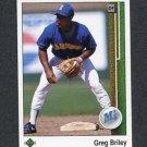 1989 Upper Deck Baseball #770 Greg Briley - Seattle Mariners