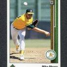 1989 Upper Deck Baseball #758 Mike Moore - Oakland Athletics