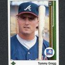 1989 Upper Deck Baseball #751 Tommy Gregg - Atlanta Braves