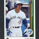 1989 Upper Deck Baseball #743 Junior Felix RC - Toronto Blue Jays