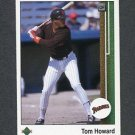 1989 Upper Deck Baseball #726 Tom Howard - San Diego Padres