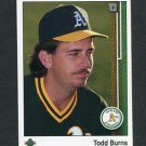 1989 Upper Deck Baseball #718 Todd Burns - Oakland Athletics
