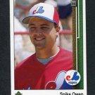 1989 Upper Deck Baseball #717 Spike Owen - Montreal Expos