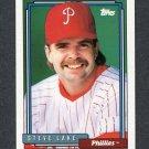 1992 Topps Baseball #331 Steve Lake - Philadelphia Phillies