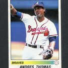 1990 Panini Stickers Baseball #229 Andres Thomas - Atlanta Braves EX