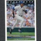 1993 Upper Deck Baseball #332 Bernie Williams - New York Yankees