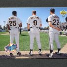 1993 Upper Deck Baseball #471 Barry Bonds / Matt Williams / Will Clark - San Francisco Giants ExMt