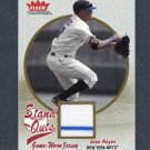 2004 Fleer Tradition Stand Outs Game Used Gold #JR Jose Reyes - New York Mets Game Used /21