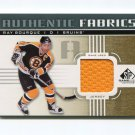 2011-12 SP Game Used Hockey Authentic Fabrics Gold #AFRB Ray Bourque - Boston Bruins Game Used
