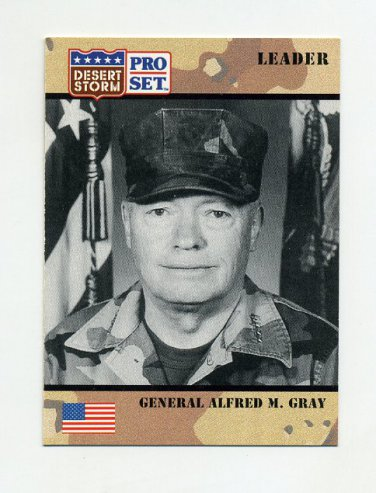 1991 Desert Storm Pro Set #082 General Alfred M. Gray