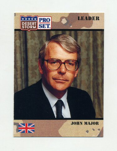 1991 Desert Storm Pro Set #076 John Major