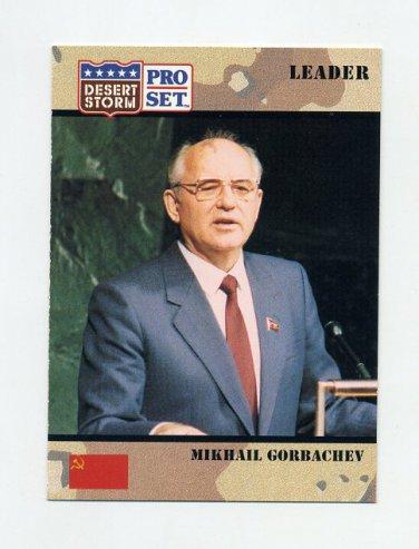 1991 Desert Storm Pro Set #074 Mikhail Gorbachev